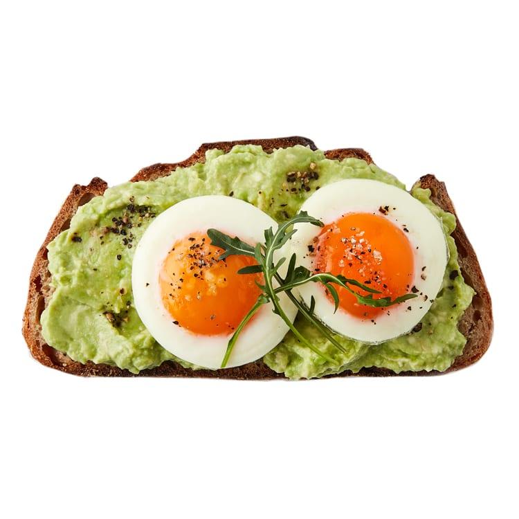 Kauai Smashed Avo Poached Eggs & Toast