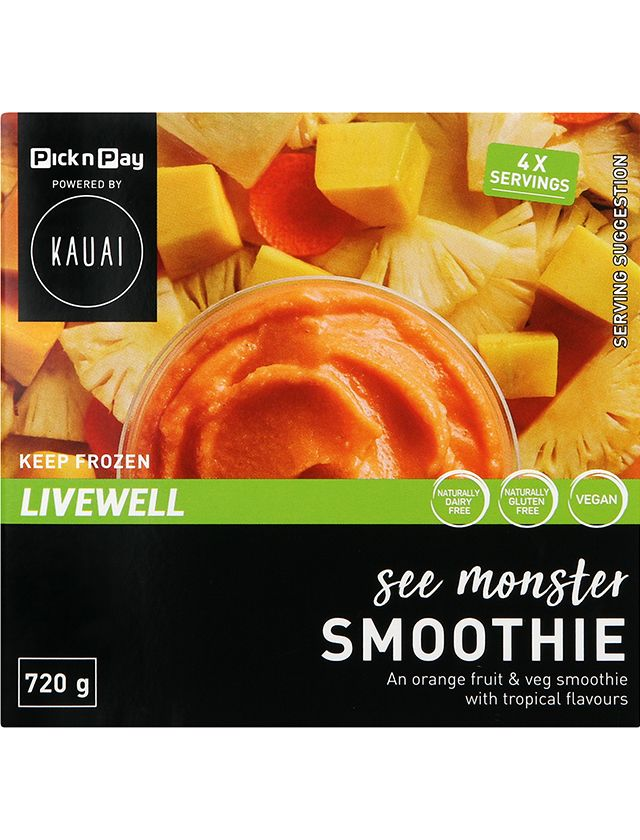 Pnp Powered by Kauai Frozen See Monster Smoothie Pack