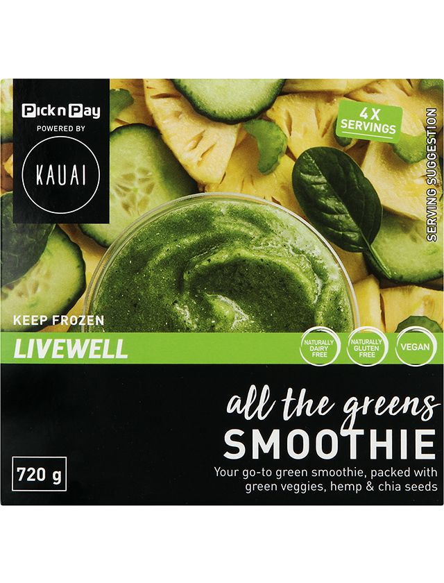 Kauai All the greens frozen smoothie pack