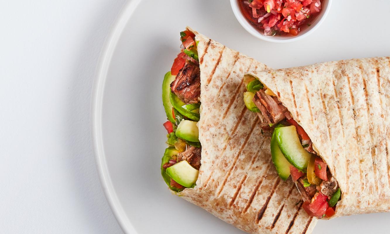 Winter Warmth - steak & avo quesadilla